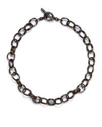 Slane | Black Sterling Silver Basketweave Link Necklace18 | Lyst