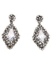 Alexis Bittar - Metallic Diamond Shape Teardrop Earring - Lyst