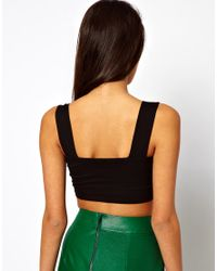 ASOS Green Crop Top with Thick Straps