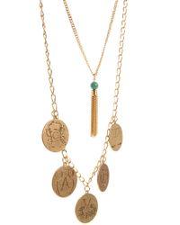 ASOS - Metallic Zodiac Coin Necklace - Lyst