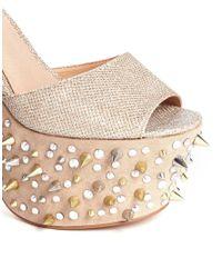ASOS - Natural Hyperactive Heeled Sandals - Lyst