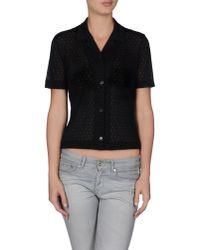 Jil Sander - Black Abstract Intarsia Knit Sweater - Lyst