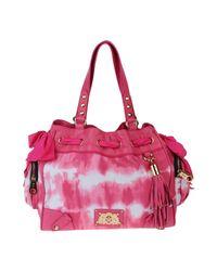 Juicy Couture Pink Medium Fabric Bag