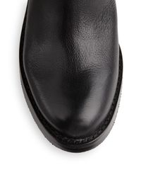 Lucky Brand Black Hanae Leather Moto Boots