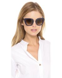 Marc Jacobs Blue Thick Frame Sunglasses - Gold/Black/Brown Gradient