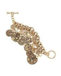 Oscar de la Renta - Metallic Goldplated Coin Bracelet - Lyst