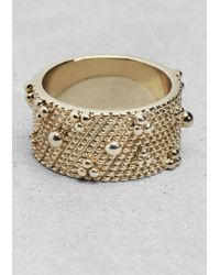 & Other Stories | Metallic Stud Ring | Lyst