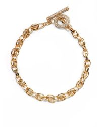 Saks Fifth Avenue - Metallic Doubled Oval Link Necklace - Lyst