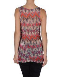 See By Chloé - Gray Sleeveless T-shirt - Lyst