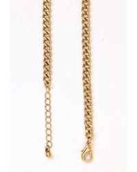 Forever 21 - Blue Faux Marble Nugget Necklace - Lyst