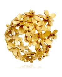 Pippa Small - Metallic Gold Flower Ring - Lyst