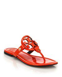Tory Burch - Miller Metallic Leather Sandals - Lyst