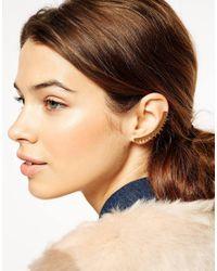 ASOS | Metallic Triangle Ear Cuff | Lyst