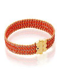 Astley Clarke | Orange Extra Wide Cajun Shrimp Cosmos Stones Bracelet | Lyst