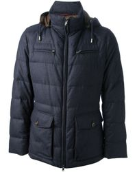 Brunello Cucinelli Blue Padded Jacket for men