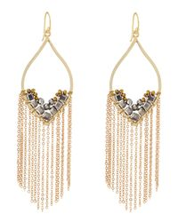 Panacea | Metallic Hematite Chain Fringe Drop Earrings | Lyst