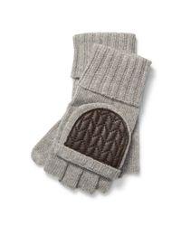 Ralph Lauren - Gray Wool-blend Fingerless Gloves - Lyst