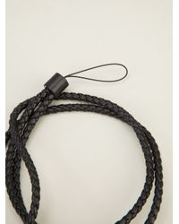Bottega Veneta - Black Intrecciato Lanyard for Men - Lyst
