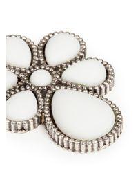 Philippe Audibert - White 'tlpai' Milgrain Flower Stone Drop Earrings - Lyst
