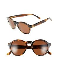 Electric - Brown 'reprise' 50mm Round Sunglasses - Lyst