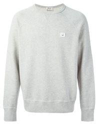 Acne Studios Gray College Face Sweatshirt for men