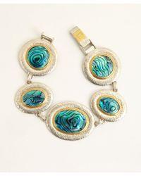 Gurhan - Green Paua Shell and Silver Surf Bracelet - Lyst
