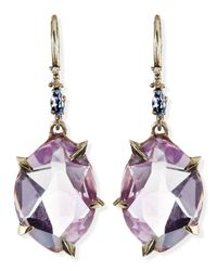 Alexis Bittar Fine | Metallic Cool Heather Marquise Amethyst Drop Earrings | Lyst