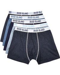 River Island - Blue Ri Boxer Shorts Pack for Men - Lyst