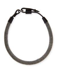 Brunello Cucinelli Black Monili Chain-Wrapped Necklace