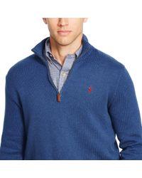 Polo Ralph Lauren Black Half-zip Cotton Sweater for men