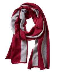 Banana Republic | Red Boiled Wool Stripe Scarf | Lyst