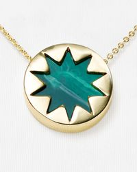 "House of Harlow 1960 - Green 1960 Mini Sunburst Necklace, 16"" - Lyst"