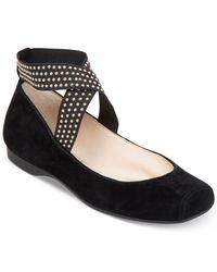 Jessica Simpson | Black Marin Elastic Ballet Flats | Lyst
