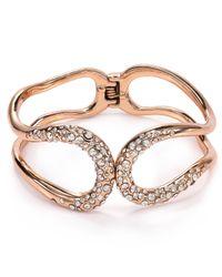 Alexis Bittar   Metallic Miss Havisham Crystal Encrusted Hinge Bracelet   Lyst