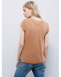 Free People - Brown We The Free Womens We The Free Itsy Bitsy Tee - Lyst