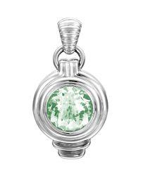 John Hardy - Bedeg Large Round Green Amethyst Enhancer for Men - Lyst