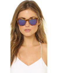 Westward Leaning Pioneer 9 Sunglasses - Amber Waves/blue