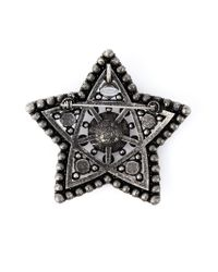 Lanvin - Metallic Crystal Embellished Star Brooch - Lyst