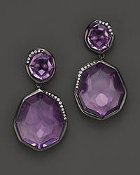 Ippolita | Purple Wicked Black Rhodium Sterling Silver Snowman Amethyst Earrings with Diamonds | Lyst
