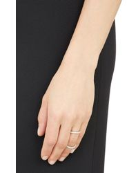 Fallon - Metallic Pavé Infinity Ring - Lyst
