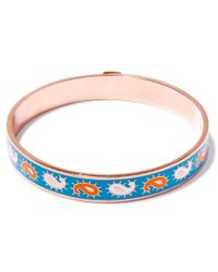 Liberty | Multicolor Teal Paisley Multicolour Thin Bangle | Lyst