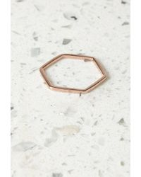 Forever 21 Pink By Boe Hexagon Band Ring