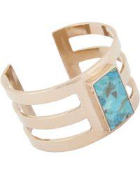 Pamela Love | Blue Inlay Cage Cuff | Lyst