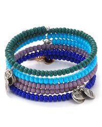 ALEX AND ANI - Blue Vintage 66 Canopy Wrap Bracelet - Lyst