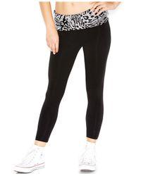 Guess Black Sequin-Embellished Yoga Pants