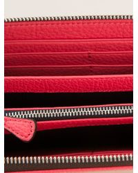 Emporio Armani - Red Logo Zip Around Wallet - Lyst