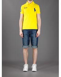 Polo Ralph Lauren Yellow Logo Polo Shirt for men
