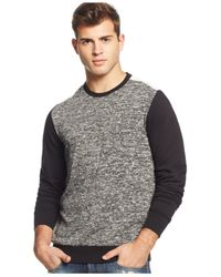 Guess - Black Colorblocked Sweater for Men - Lyst