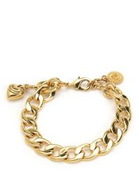 Juicy Couture | Metallic Mini Charm Bracelet | Lyst