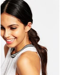 ALDO - Metallic Trilasa Faux Pearl Ear Cuffs - Lyst